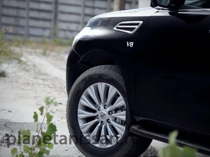 обновленный ниссан патрол 2014 фото переднего колеса автомобиля